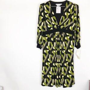 NWT Maggy London Black Kale 3/4 Sleeve Dress